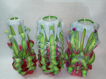 Набор резных свечей № 25