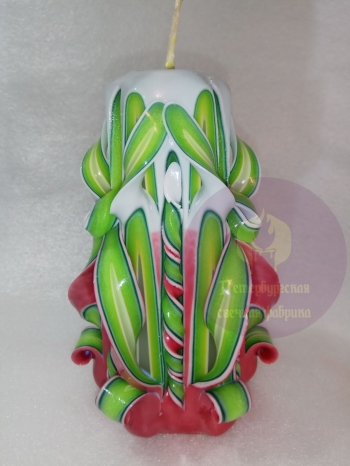 Свеча резная 6 граней 12 см конусная № 9