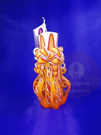 Свеча резная 6 граней 20 см конусная № 18