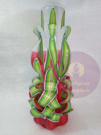 Свеча резная 6 граней 20 см конусная № 13