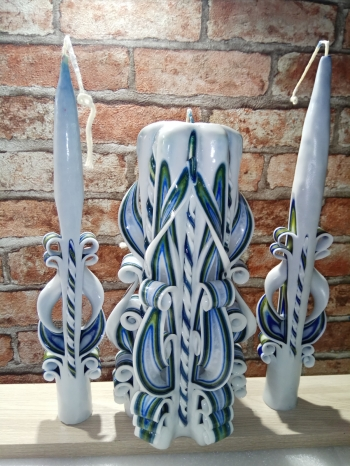 Набор резных свечей №031